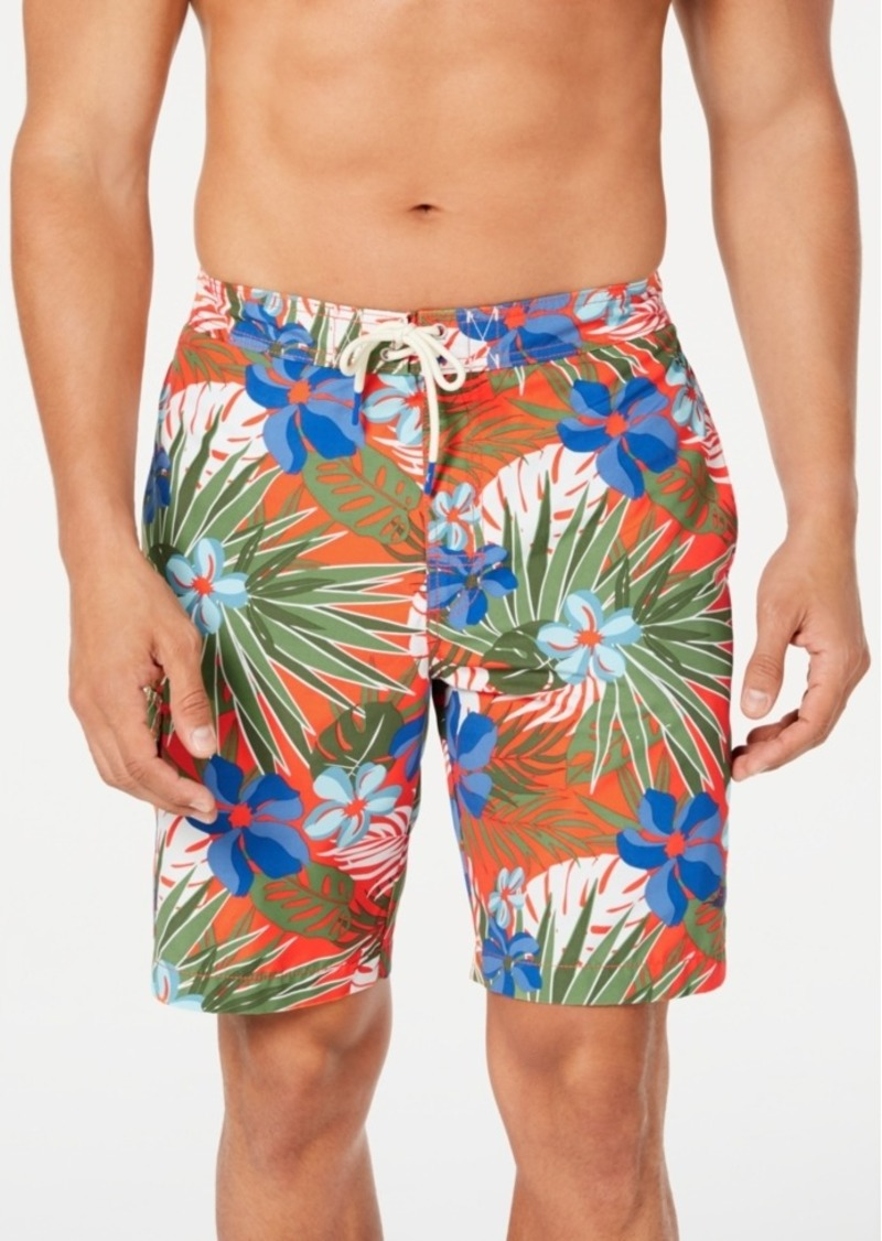 "Tommy Bahama Men's Baja Prickly Pear Tropical-Print 9"" Board Shorts"
