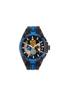 Tommy Bahama Men's Barracuda Bay Dual Time Sport Multi Silicone Strap Watch, 49mm