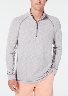 Tommy Bahama Men's Barrier Beach Reversible Quarter-Zip Thermal Sweatshirt