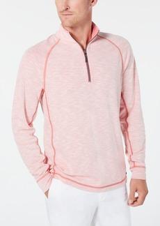 Tommy Bahama Men's Barrier Beach Reversible Quarter-Zip Thermal Sweatshirt