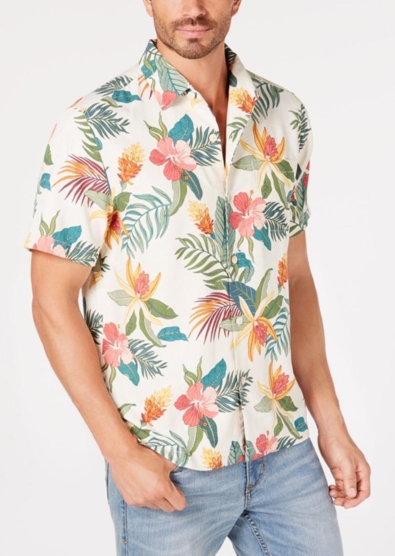 Tommy Bahama Men's Beach Crest Blooms Hawaiian Performance Camp Shirt