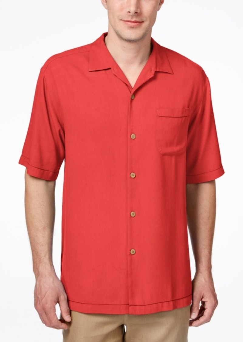 Tommy Bahama Men's Big & Tall Havana Herringbone Short-Sleeve Shirt