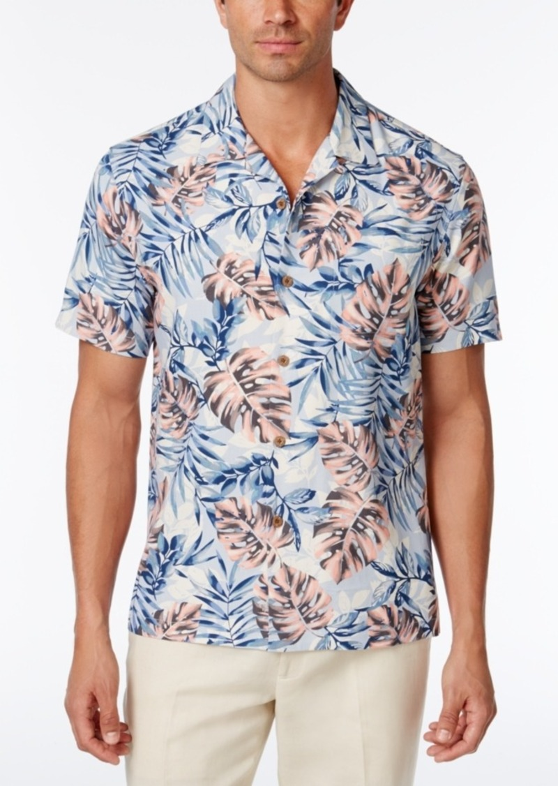 6b9812bd06 Tommy Bahama Men's 100% Silk Palm Garden Shirt, a Macy's Exclusive