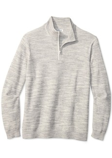 Tommy Bahama Men's Break Line Quarter-Zip Sweater
