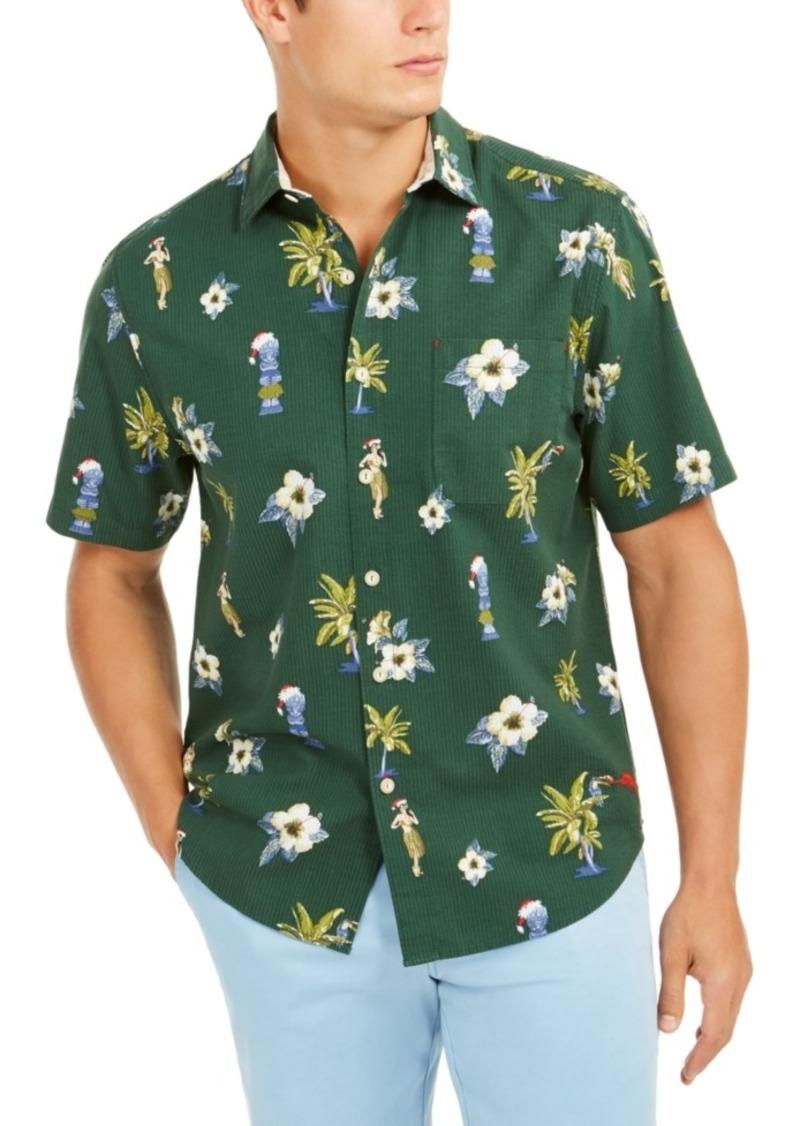 Tommy Bahama Men's Cheeky Tiki Holiday Graphic Shirt