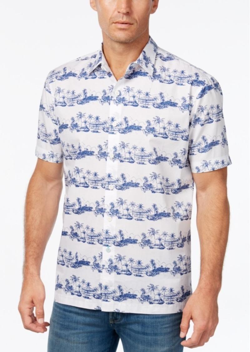 Tommy Bahama Men's Cuba Cruiser Graphic-Print Short-Sleeve Shirt