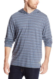 Tommy Bahama Men's Feeder Stripe Cotton Modal Jersey Pull Over Hoodie Island