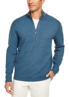 Tommy Bahama Men's Flip Side Classic-Fit Reversible Half-Zip Sweatshirt, Created For Macy's