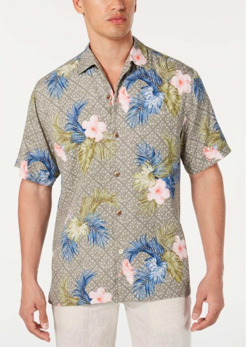 Tommy Bahama Men's Flora Breeze Geo Floral-Print Camp Collar Shirt