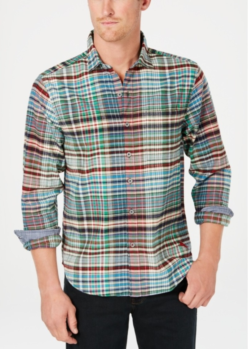 Tommy Bahama Men's Fore-Shore Yarn-Dyed Plaid Flannel Shirt