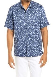 Tommy Bahama Men's Go Go Flamingo Short Sleeve Button-Up Shirt