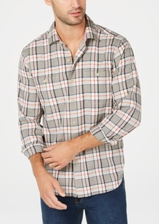 Tommy Bahama Men's Harbor Herringbone Yarn-Dyed Plaid Shirt