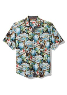 Tommy Bahama Men's Hawaiian Print Classic Fit Button Down Camp Shirt
