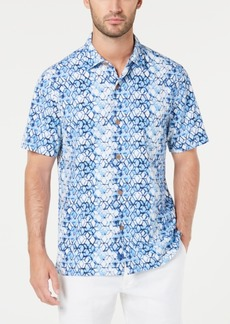 Tommy Bahama Men's Hex Factor Geo-Print Silk Camp Shirt