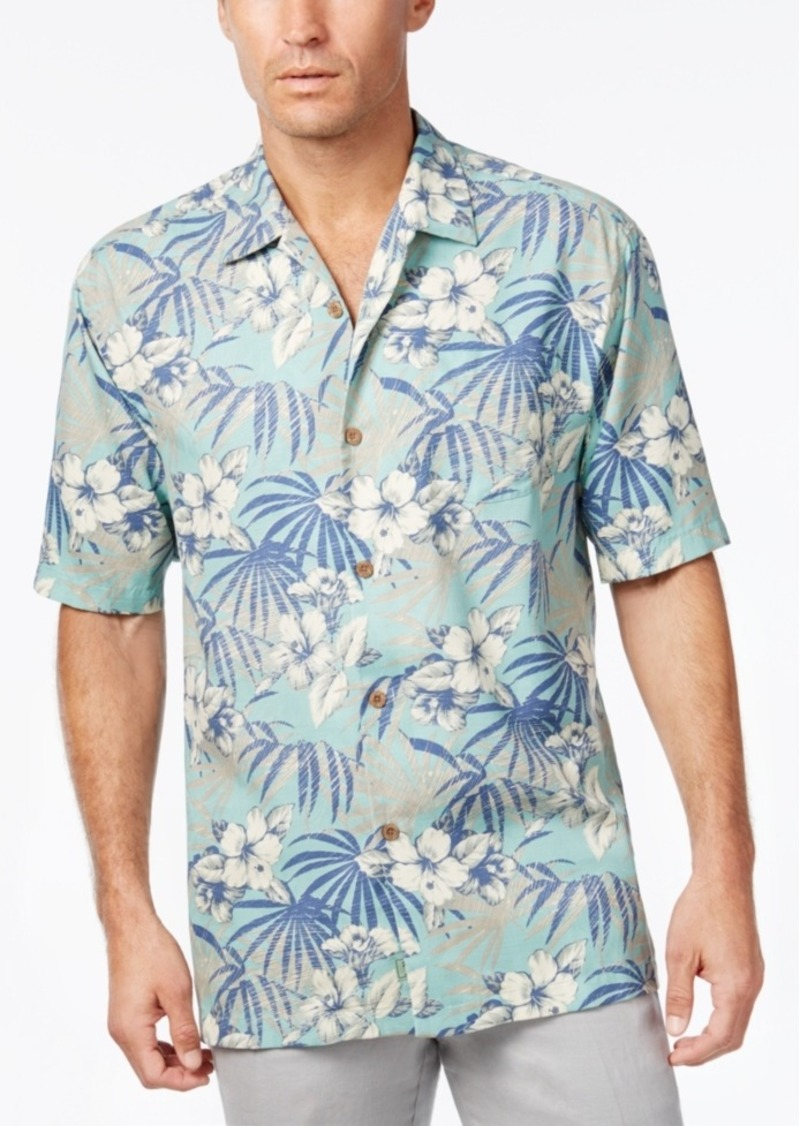Tommy Bahama Men's Hibiscus De Cuba Floral-Print Silk Short-Sleeve Shirt