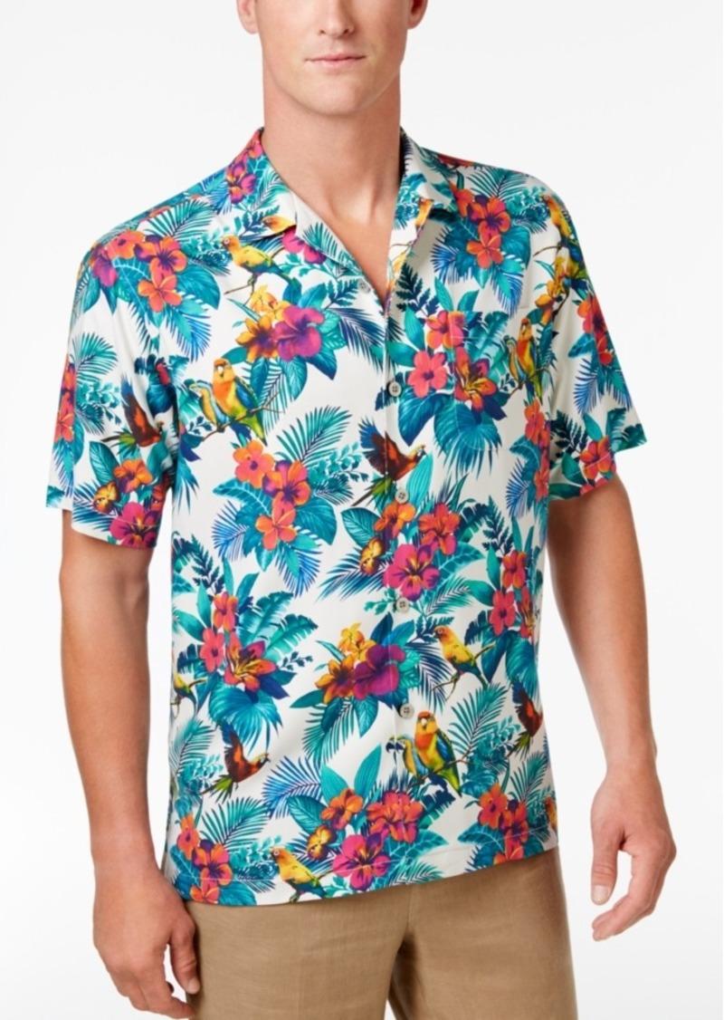 Tommy Bahama Men's Jungle Flora Silk Shirt