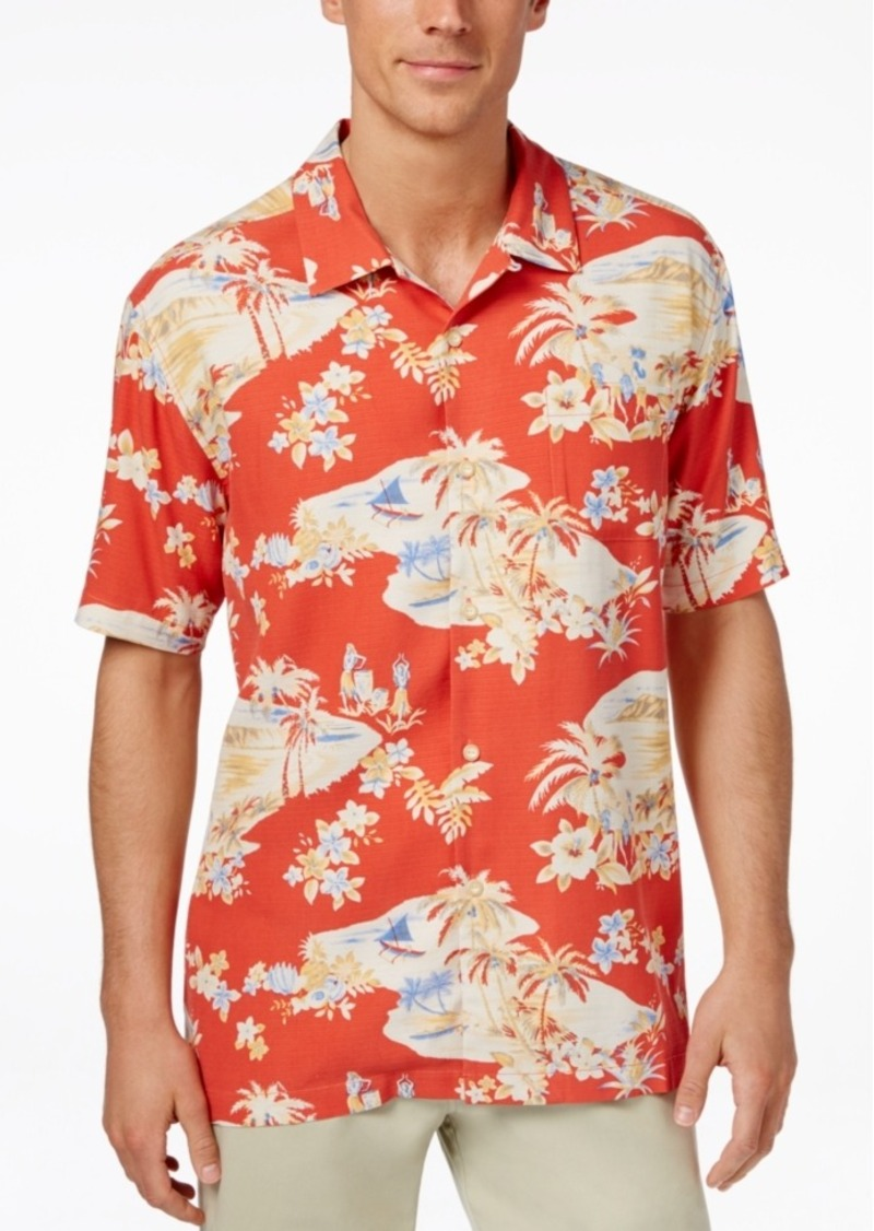 Tommy Bahama Men's Lazy Luau Tropical-Print Silk Short-Sleeve Shirt