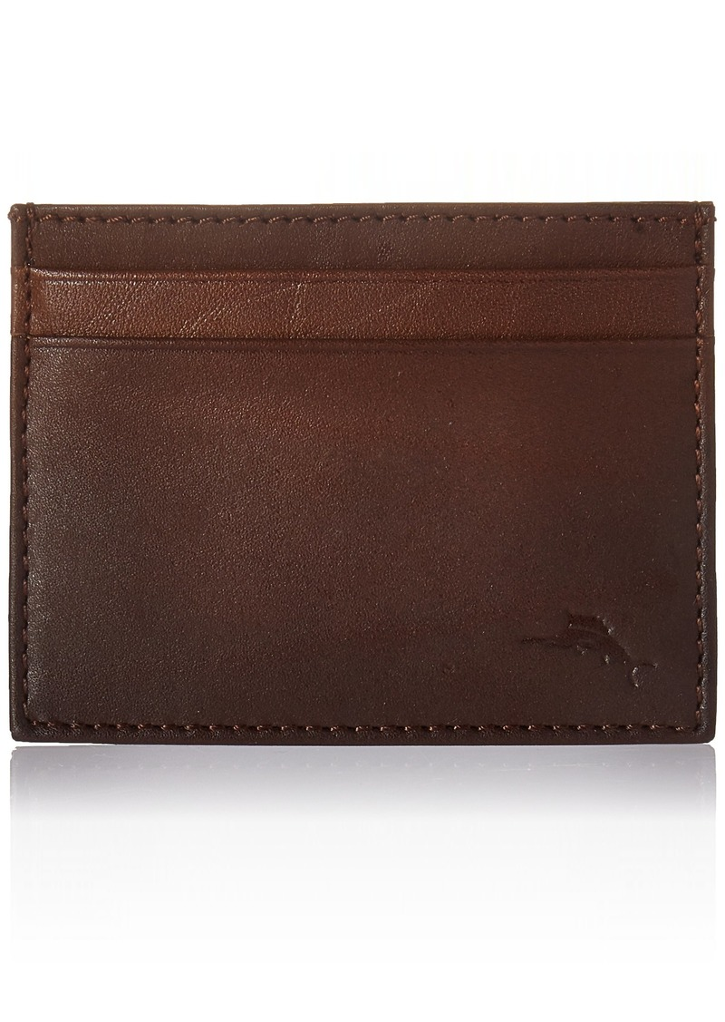 Tommy Bahama Men's Leather Ombre Card Case-brown