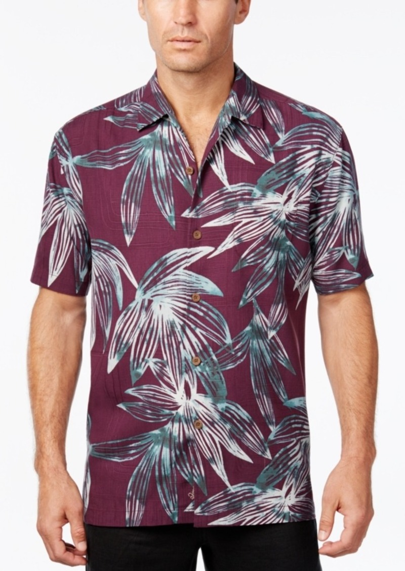 Tommy Bahama Men's Marino Mirage Floral-Print Silk Short-Sleeve Shirt