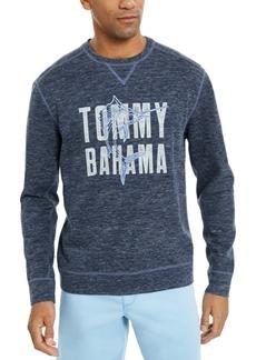 Tommy Bahama Men's Maritime Marlin Flip Classic-Fit Reversible Heathered Logo Sweatshirt