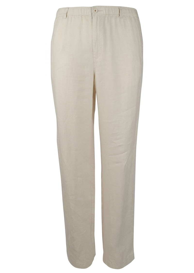 "Tommy Bahama Men's New Linen On The Beach Easy Fit Pant Natural 2XL (42-45"" Waist) X 34"