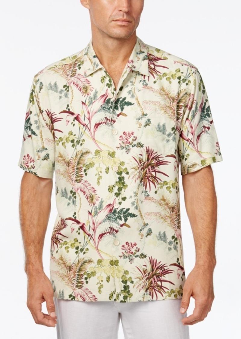 Tommy Bahama Men's Offshore Grove Floral-Print Silk Short-Sleeve Shirt
