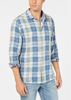 Tommy Bahama Men's Palapa Plaid Floral Shirt