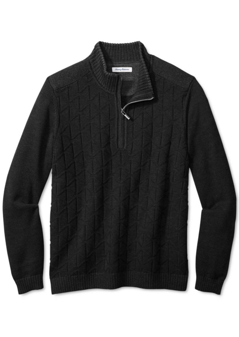 Tommy Bahama Men's Palm Vista Half-Zip Sweater