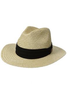 Tommy Bahama Men's Panama Safari Hat with 3 Pleat Cotton Band  Small/Medium