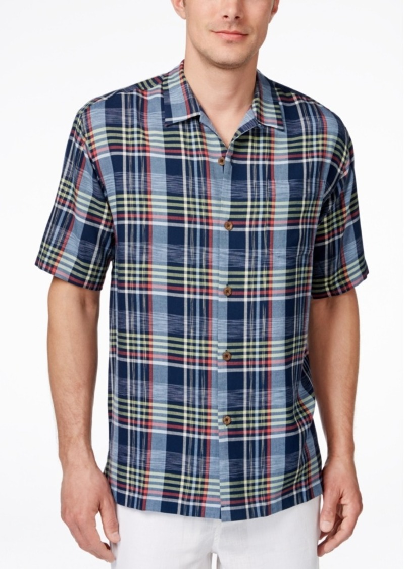 Tommy Bahama Men's Place De Plaid Short-Sleeve Shirt