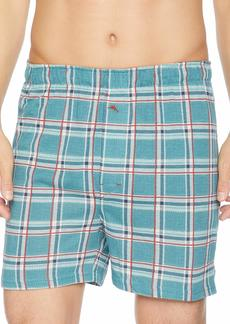 Tommy Bahama Men's Printed LINE Plaid Knit Boxer Short S