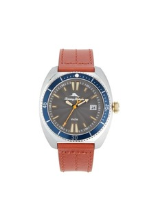 Tommy Bahama Men's sag Harbor Diver Multi Leather Strap Watch, 48mm