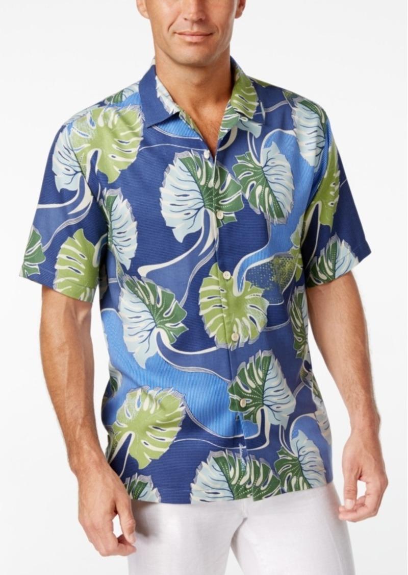 Tommy Bahama Men's Salsa Fronds Tropical-Print Silk Short-Sleeve Shirt