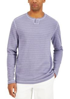 Tommy Bahama Men's San Salvator Reversible Stripe Split-Neck Sweatshirt