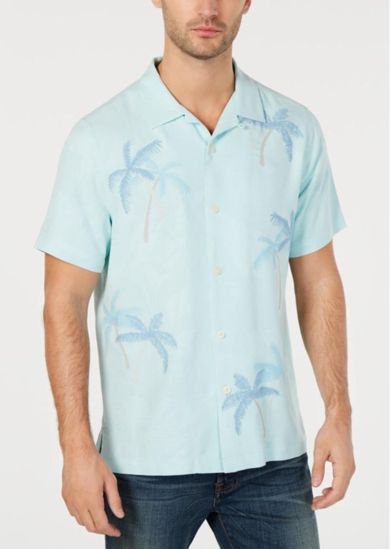 Tommy Bahama Men's Scattered Palms Silk Hawaiian Shirt