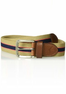 Tommy Bahama Men's Casual Stretch Fabric Belt tan stripe