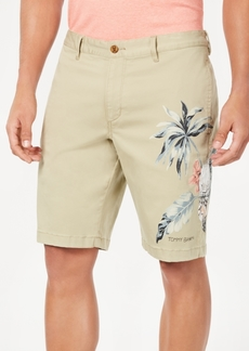 "Tommy Bahama Men's Tahitian Tweet Classic Fit Performance Stretch Tropical-Print 10"" Shorts"