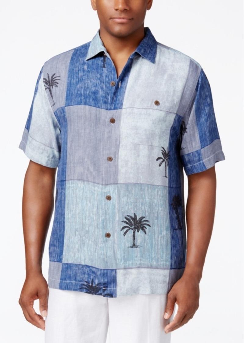 Tommy Bahama Men's Tic Tac Block-Print Silk Short-Sleeve Shirt