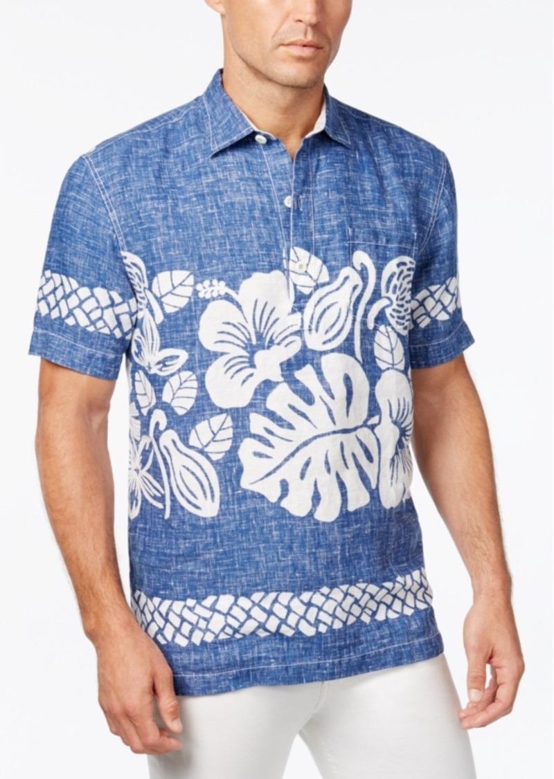 Tommy Bahama Men's Tiki Time Floral-Print Linen Short-Sleeve Shirt