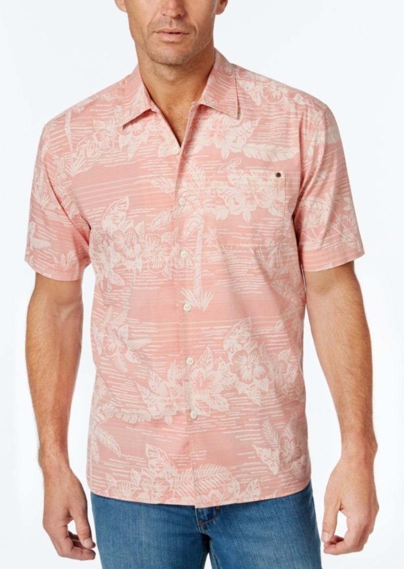 Tommy Bahama Men's Tommy Tides Stripe Floral-Print Short-Sleeve Shirt