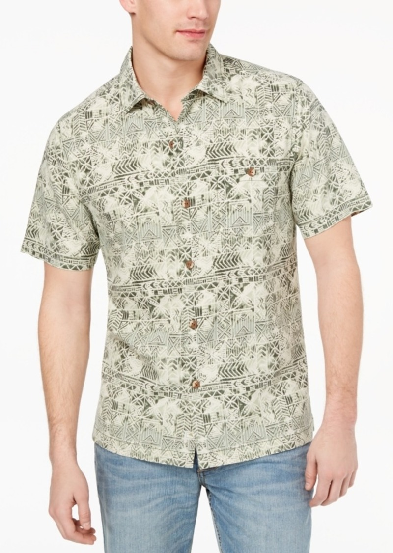 1e07ea6da2 Tommy Bahama Men's Tropical Geo-Print Silk Shirt, Created for Macy's