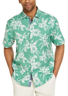 Tommy Bahama Men's Vintage Hibiscus Classic-Fit Tropical Print Silk Camp Shirt, Created for Macy's