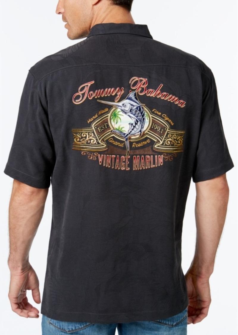 Tommy Bahama Men's Vintage Marlin Floral-Jacquard Silk Short-Sleeve Shirt
