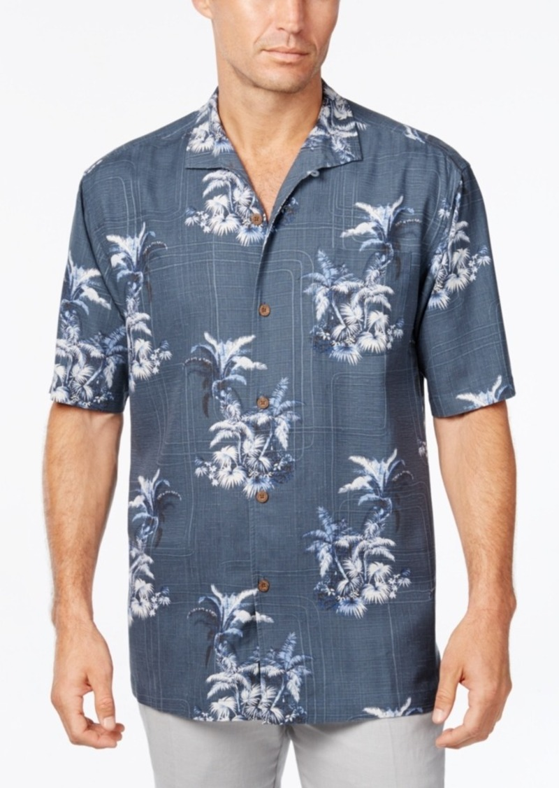 Tommy Bahama Men's Where The Palm Frond Floral-Print Silk Short-Sleeve Shirt