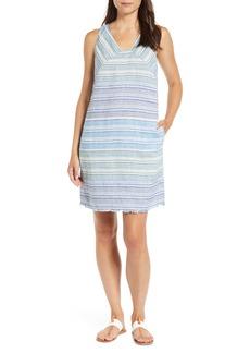 Tommy Bahama Micronesia Stripe Linen Shift Dress
