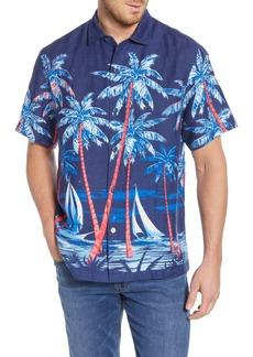 Tommy Bahama Midnight Marina Print Linen Shirt