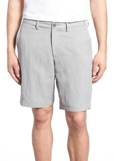 Tommy Bahama Monterey Flat Front Silk & Linen Shorts