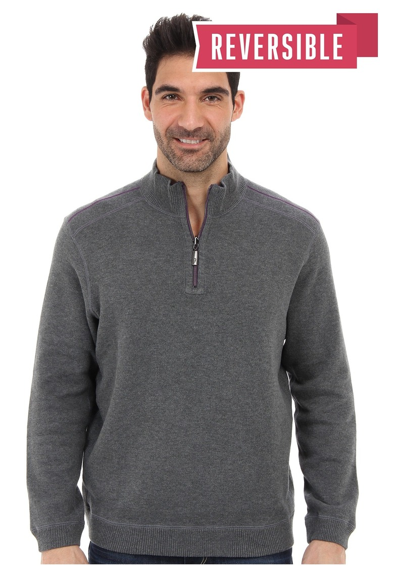 Tommy Bahama New Flip Side Pro Reversible Half Zip Sweatshirt
