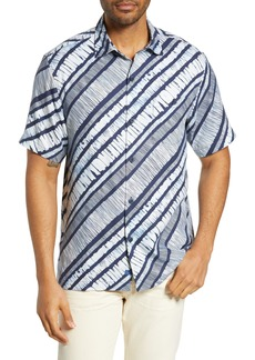 Tommy Bahama North Shore Winds Classic Fit Silk Camp Shirt
