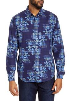Tommy Bahama Ocean Deep Plaid Floral Button-Up Shirt